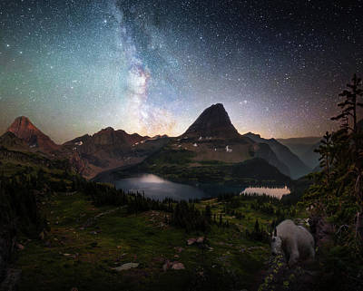 Photograph - Celestial Alpine World / Hidden Lake, Glacier National Park  by Nicholas Parker