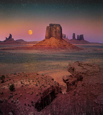 Photograph - Celestial Desert Sky / Monument Valley, Arizona  by Nicholas Parker