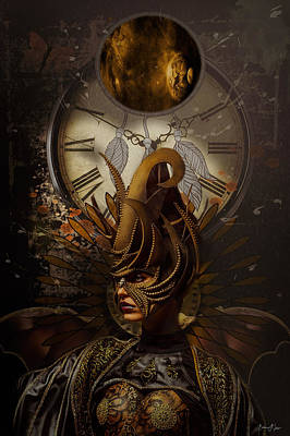 Digital Art - Celestial Dreamcatcher by Barbara A Lane