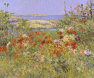 Painting - Celia Thaxters Garden Isle Of Shoals Maine by Childe Hassam