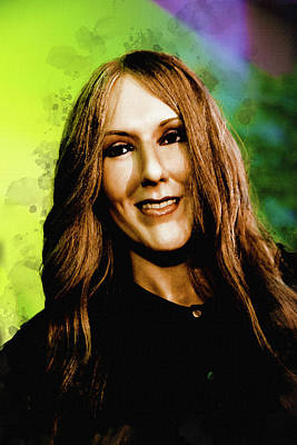Digital Art - Celine Marie Claudette Dion by Max Huber