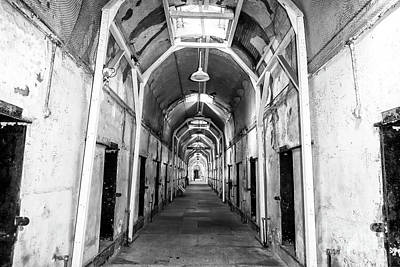 Photograph - Cell Block At Eastern State Penitentiary by John Rizzuto