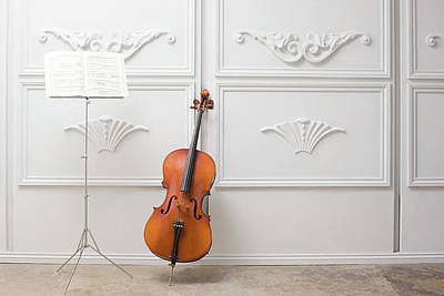 Photograph - Cello And Music Stand by Image Source