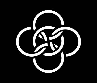 Celtic Five Fold Symbol 2 Art Print