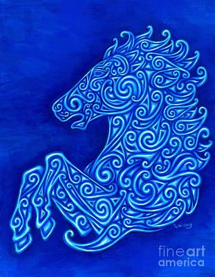 Celtic Horse Art Print