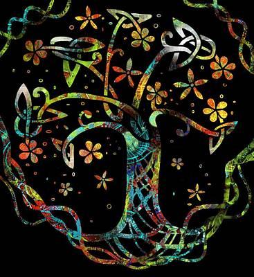Flower Wall Art - Digital Art - Celtic Tree Of Life 2 by Joan Stratton
