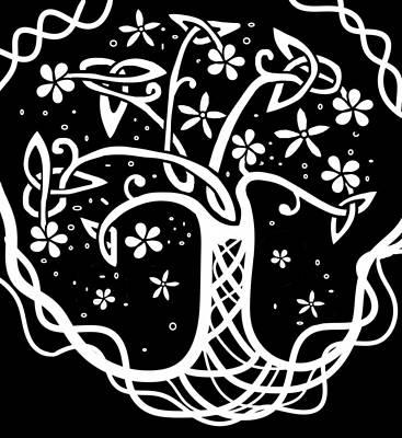 Flower Wall Art - Digital Art - Celtic Tree Of Life 3 by Joan Stratton
