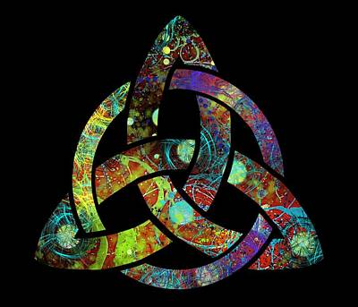 Celtic Triquetra Or Trinity Knot Symbol 3 Art Print