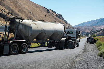 Photograph - Cement Truck Turning by Tom Cochran