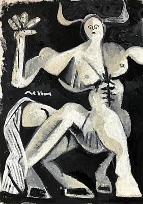 Centaur Wall Art - Painting - Centaur by Mark M Mellon
