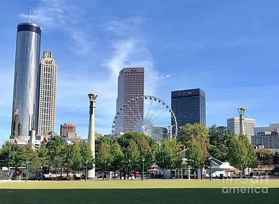 Photograph - Centennial Olympic Park by Flavia Westerwelle