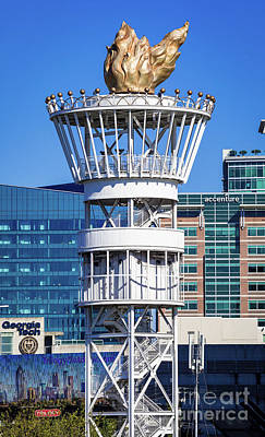 Photograph - Centennial Olympic Torch Tower - Atlanta Ga 2 by Sanjeev Singhal