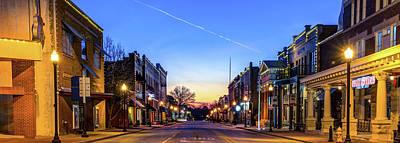 Photograph - Central Avenue Panorama - Bentonville Arkansas Skyline by Gregory Ballos