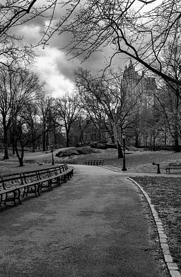Photograph - Central Park And Rain Clouds by Robert Ullmann