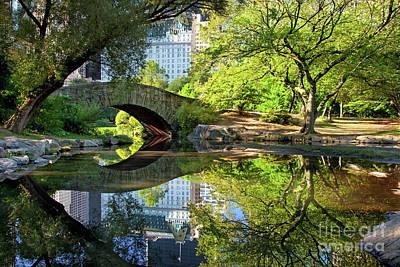 Photograph - Central Park Bridge by Brian Jannsen