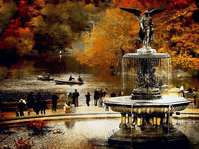 Colorful Button - Central Park Fall by Jeff Watts