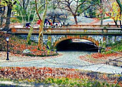 Digital Art - Central Park In Autumn by CAC Graphics
