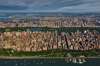 Photograph - Central Park Nyc Aerial by Susan Candelario