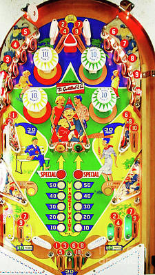 Photograph - Central Park Playfield Pinball Machine Arcade Nostalgia 20181221 by Wingsdomain Art and Photography