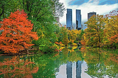 Not Your Everyday Rainbow - Central Park Pond in Autumn by Regina Geoghan