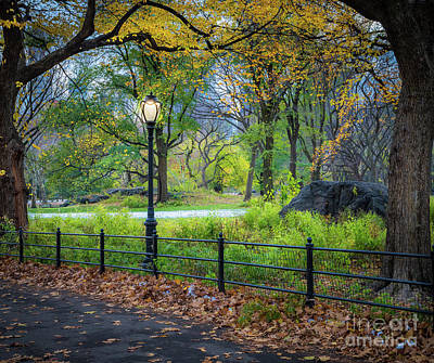 Photograph - Central Park Streetlight by Inge Johnsson