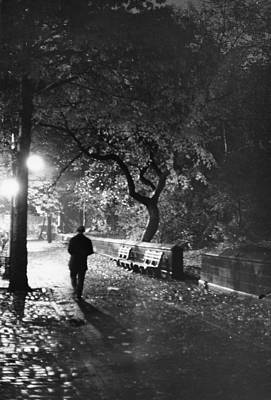 Photograph - Central Park West At Night by Fred W. Mcdarrah