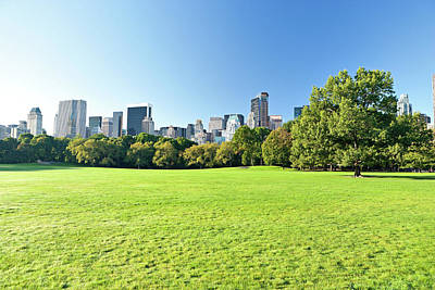 Photograph - Central Park With Manhattan Skyscrapers by Amriphoto