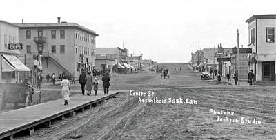 Abstract Skyline Rights Managed Images - Centre Street Assiniboia  Sasketchewan  ca  1915 Royalty-Free Image by Celestial Images