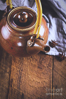 Photograph - Ceramic Tea Pot With Star Of Anise by Stephanie Frey