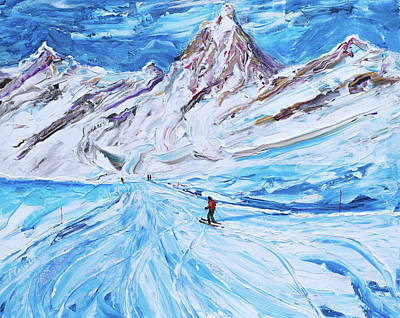 Painting - Cervinia Ski Print by Pete Caswell
