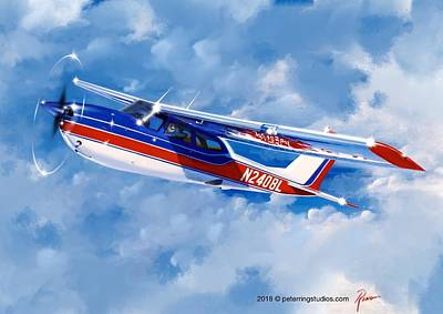 Wall Art - Painting - Cessna Rg by Peter Ring Sr