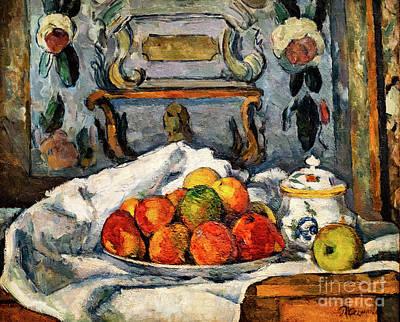 Painting - Cezanne Dish Of Apples by Paul Cezanne
