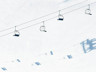 Photograph - Chairlift And Ski Piste by Georgeclerk