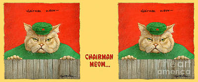 Painting - Chairman Meow... by Will Bullas