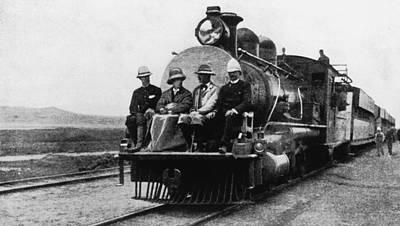 Photograph - Chamberlain Train Ride by Hulton Archive