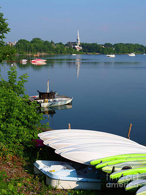 Photograph - Chambly Basin And The Church Of St Joseph In Quebec by Louise Heusinkveld