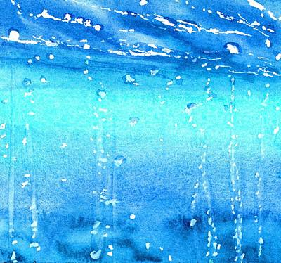 Hydro Wall Art - Painting - Champagne Sea 1 by CarlinArt Watercolor