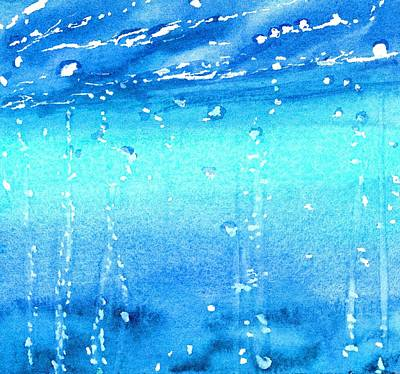 Painting - Champagne Sea 2 by CarlinArt Watercolor