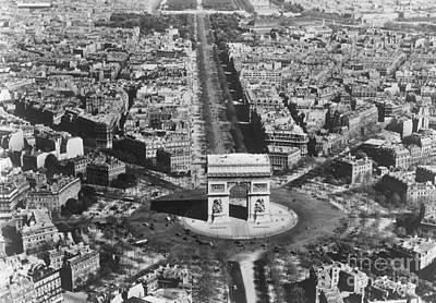 Photograph - Champs Elysees Paris, C1900 by Granger