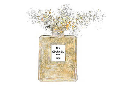 Wall Art - Painting - Chanel Explosion by Sannel Larson