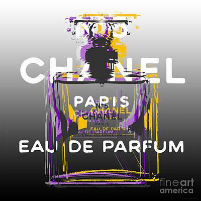 Digital Art - Chanel No 5 Pop Art - #2 by Jean luc Comperat