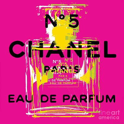 Digital Art - Chanel No 5 Pop Art - #3 by Jean luc Comperat