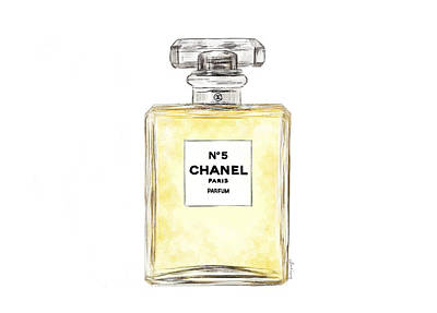 Wall Art - Painting - Chanel No. 5  by Sannel Larson