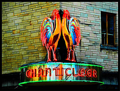 Photograph - Chanticleer Neon Roosters by Peter Gumaer Ogden