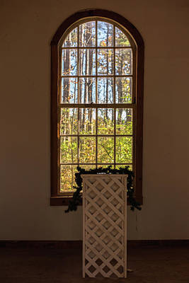 Photograph - Chapel Arch Window by Terry DeLuco