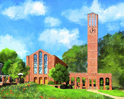 Mixed Media - Chapel Of Memories - Mississippi State by Mark Tisdale