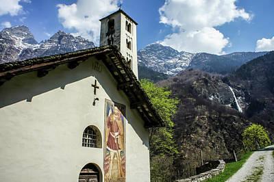 Photograph - Chapel Of Santa Maria Of Castello, Mesocco, Switzerland by Dawn Richards