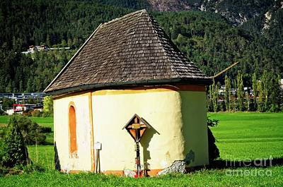 Photograph - Chapel To Commemorate Of Paraglider Death In Telfs, Austria by Elzbieta Fazel