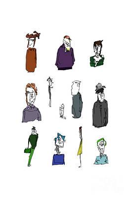 Digital Art - Character Studies by Clayton Bastiani