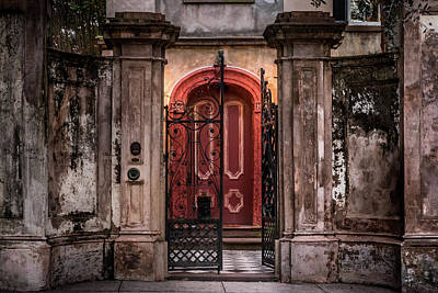 Photograph - Chareleston's Famous Red Door by Ron Pate
